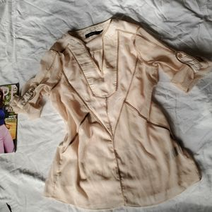👌4for20 Ark & Co Sheer military notched blouse